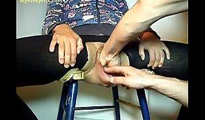 MYKINKYFLIX.COM - Old Granny Gets Fist Screwed In Unbarred Pussy
