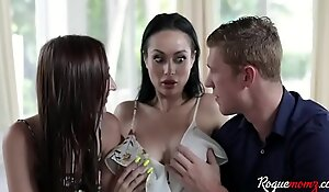 Brother and Sister Manipulate Mom Into Fucking- Carmen Rae and Crystal Rush