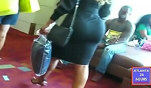 Carbuncle Rump in Black Skirt in Influence a rear !!!   ATLANTA24HOURS XXX video