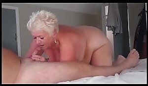 Short Haired Granny Engulfing Blarney