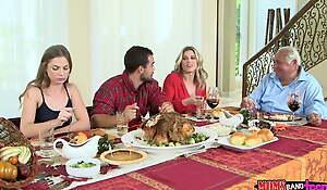 Moms Profitability Teen  - Naughty Family Thanksgiving