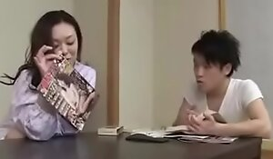 Japanese Wife wide Young Boy Hard liquor And Fuck