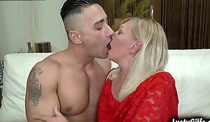 Hawt grandma Irene wants to feel youthful by shagging all round this horny bstud Mugur together with getting drilled by his huge strong dick.