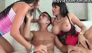 Horny teen Cassandra Nix 3some with her big breast stepmom