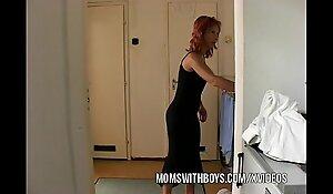 Stepmom seduces stepson into acquiring hard