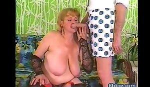 Classic Mature MILF Sucks Monster Cock - 8bbw free porn video