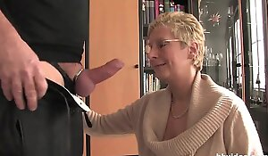 Bbvideo porn tube movie  Short haired German granny copulates