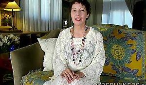 Kinky old anal invasion spunker fucks her mean short-lived asshole for u