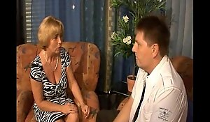German old lady - lass - mutti und sohn