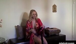 Ultimate MILF Julia Ann is stripping and xnxx trying exceeding lingerie!