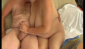 Obese matured slutty fit together sucks with the addition of copulates