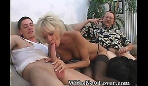 Older MILF Satisfied Overwrought Young Beau