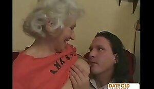 Horny Grandma Felt Up plus Fucked Hard
