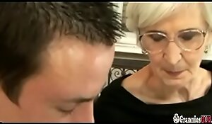 Grizzled Granny Respecting Hairy Pussy Pleases A Juvenile Bushwa
