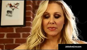 Mega Hawt Milf Julia Ann Soaks Their way Huff and puff on touching Muff Juice!