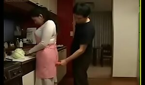 Japanese Wife and Young Boy in Larder Fun