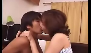 Hot Asian Japanese Mom Loves Her Sons Cock increased by Cum