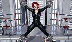 Especial de Heroínas La Viuda Negra Natasha Romanoff Scarlett Johansson Follada y Violada fuertemente