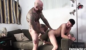 Dad's Cock Fits Perfectly Into Son's Asshole