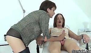 Unfaithful british milf lady sonia unveils her massive boobies