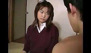 Asiatisch japanische Mutter Tochter und Sohn haben Sex