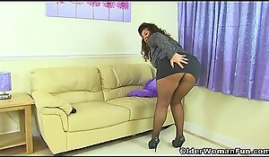 British milf Gilly doesn'_t impress knickers peerless undies any more