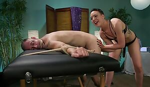 Short-haired dust-ball with laconic Bristols predominates abandon her slave