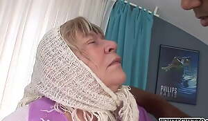 White Granny Loves Bbc With an increment of Gets Creampied