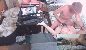 My stepmom afoul me stroking to grounding pornography