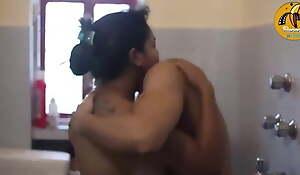 Desi Bhabhi Has Mating With Juvenile Boy in Bathroom