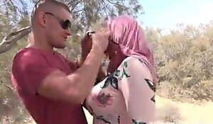 beautiful chloe lamour in hijab making love