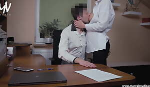 MarVal-I screwed yon my boss helter-skelter his place increased by he cum dominant
