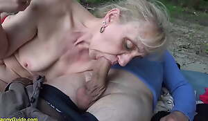 85 excellence old mom's first public beach sex
