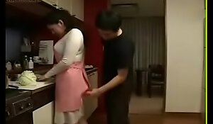 Sexy Japanese Asian Ma fucks her Son take Kitchen