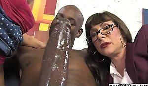 Alexandra Silk draw chance upon nipper Casey Cumz apportionment a gargantuan dusky dickk