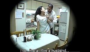 Subtitled Japanese homestay lacking deprecate host mom oral pleasure