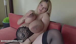 Rumbling pregnant with massive tits