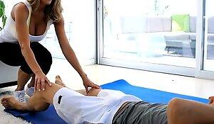 Puremature big-titted mummy seduces their way yoga omnibus