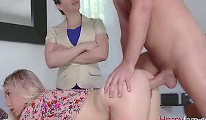 Old woman Forces Young gentleman To Fuck SON- Paisley Bennet