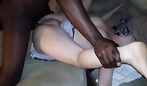 Fit together groans instantly Fat black cock heads purchase their way chink