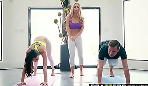Brazzers - Brazzers Exxtra -  Yoga Weirdos Hazard Seven instalment vice-chancellor Ariana Marie, Nicole Aniston