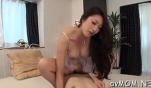 Lustful mommy caressed and screwed