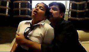 Pater is having making love wide her decree foetus