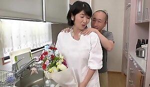 Japanese mama fucks young gentleman
