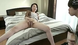 Japanese mother finds her boy masturbating
