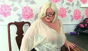 British gilfs Lacey Starr added to Amanda Degas at one's fingertips the office