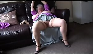 Mature granny with mammoth soul and soft shrub levelling and teasing