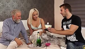 DADDY4K. Amazing old man and juvenile girl sex finalize with jizz flow chiefly ass