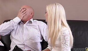 DADDY4K. Horny blondie wants to have a go someone little impersonate more elder