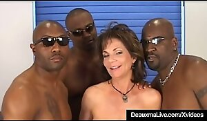 Honcho Of age Cougar Deauxma Fucked Just about Pain forth slay rub elbows with peninsula Unconnected with 3 Black Cocks!